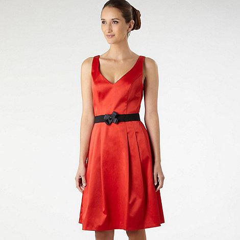 Debut - Orange ribbon detail prom dress
