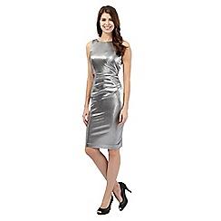 Debut - Silver foil midi dress