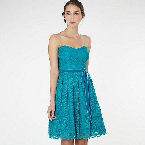 Debut - Turquoise lace prom dress