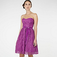 Debut - Bright pink lace prom dress