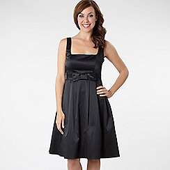 Debut - Black satin prom dress