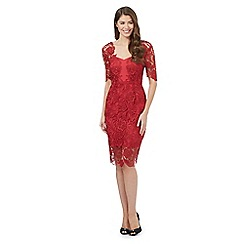 Debut - Red lace shift dress