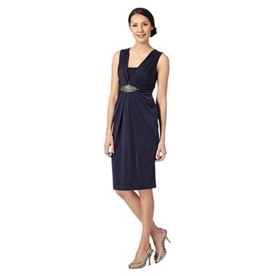 No. 1 Jenny Packham Designer Gatsby navy pleated