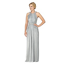 No. 1 Jenny Packham - Designer silver embellished maxi dress