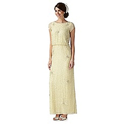 No. 1 Jenny Packham - Yellow 'Lauren' hand-embellished evening dress