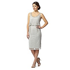 No. 1 Jenny Packham - Silver 'Astra' hand-embellished dress