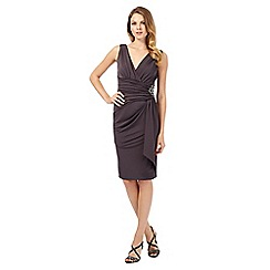 No. 1 Jenny Packham - Aria dark grey v neck jersey dress