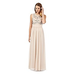 No. 1 Jenny Packham - Rose pink 'Olivia' hand-embellished evening dress