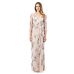 No. 1 Jenny Packham - Pale pink 'Soiree' hand-embellished evening dress