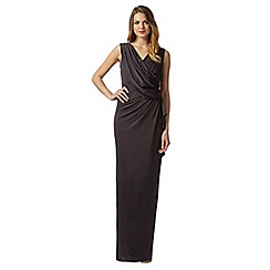 No. 1 Jenny Packham - Designer Uma dark grey embellished maxi dress