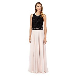 No. 1 Jenny Packham - Black and pink 'Eve' hand-embellished evening dress