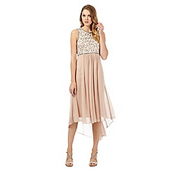 No. 1 Jenny Packham - Designer Calista light pink embellished evening dress