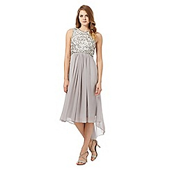 No. 1 Jenny Packham - Silver 'Calista' hand-embellished dress