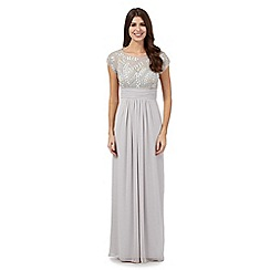 No. 1 Jenny Packham - Silver 'Amour' embellished evening dress