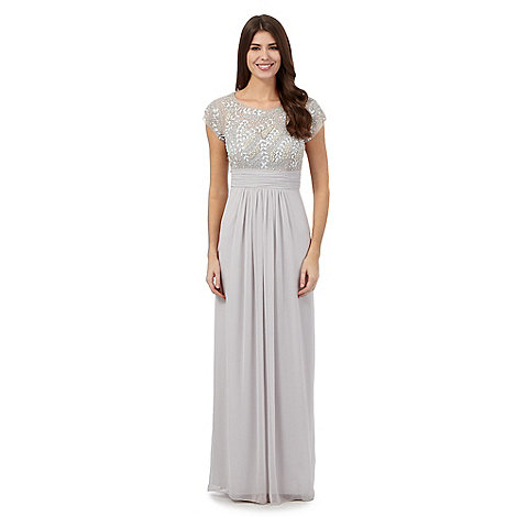 No. 1 Jenny Packham Silver &39Amour&39 embellished evening dress ...