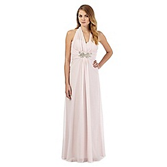 No. 1 Jenny Packham - Pale pink chiffon maxi evening dress
