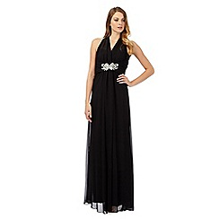 No. 1 Jenny Packham - Starlet black chiffon maxi evening dress
