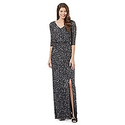 No. 1 Jenny Packham - Dark grey sequin maxi dress