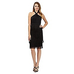No. 1 Jenny Packham - Black 'Josephine' fringed dress