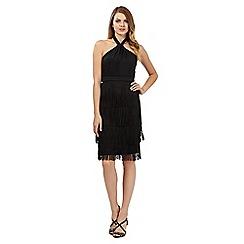 No. 1 Jenny Packham - Black 'Josephine' fringed dress