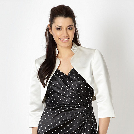 Debut - Ivory stand up collar bolero