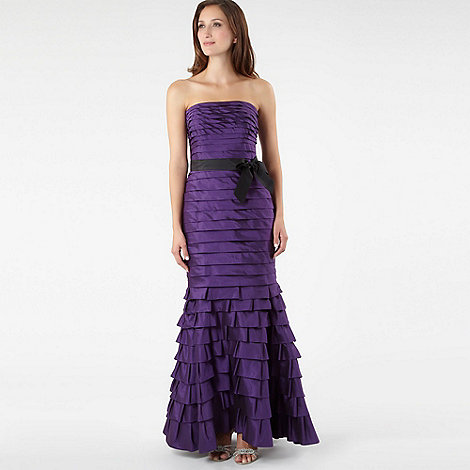Pearce II Fionda - Purple tiered bandeau dress