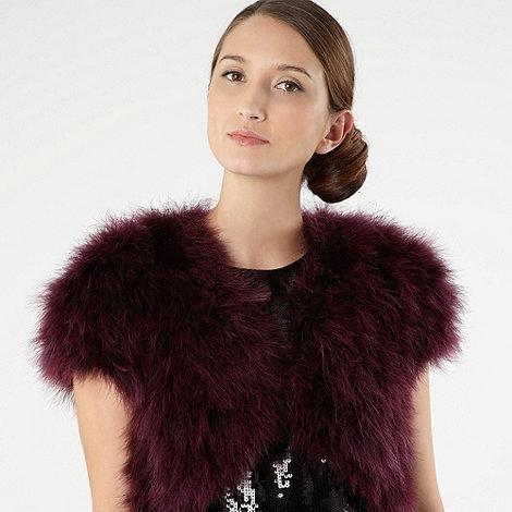 Pearce II Fionda - Purple marabou feather jacket - size S