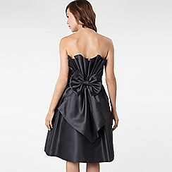 Principles by Ben de Lisi - Black diagonally pleated back prom dress