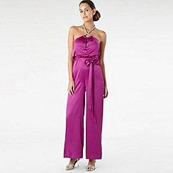 Star by Julien Macdonald - Purple jewelled satin jumpsuit