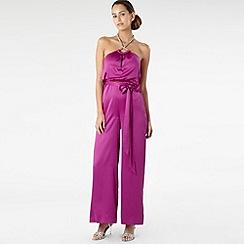 Star by Julien MacDonald - Purple jewelled satin jumpsuit