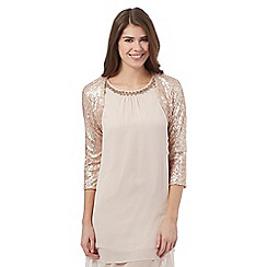 Debut - Pale pink sequin cover up