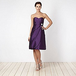 Debut - Purple bandeau prom dress