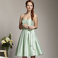 Debut - Pale green bandeau prom dress