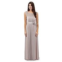 Debut - Silver glitter maxi dress