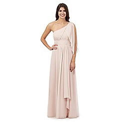 Debut - Pale peach one shoulder maxi dress