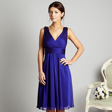 Debut - Bright blue cationic chiffon prom dress