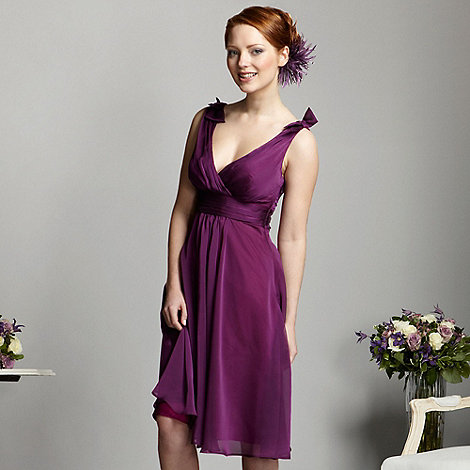 Debut - Plum built up strap prom dress