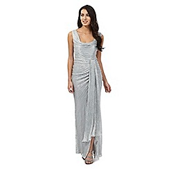 Debut - Alisia silver square gathered maxi dress