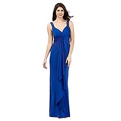 Debut - Blue twist knot maxi dress