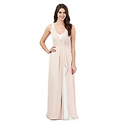 Debut - Rose layered maxi evening dress