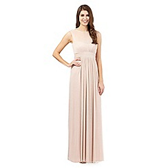Debut - Light pink glitter maxi dress
