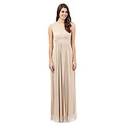 Debut - Gold glitter maxi dress