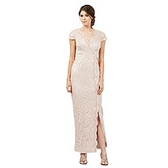 Debut - Light pink lace overlay sequinned maxi dress