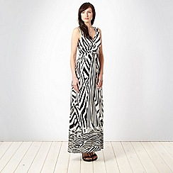 Debut - Black tribal maxi dress