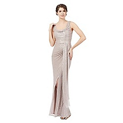Debut - Pink shimmer maxi dress