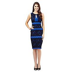 Debut - Bright blue lace panel dress