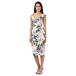 Debut - Ivory 'Samantha' botanical print dress