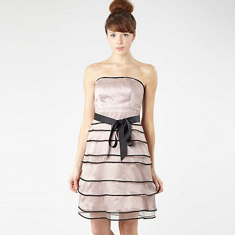 Debut - Pale pink tiered prom dress