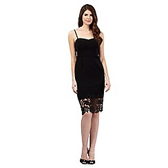 Debut - Black lace hem cami dress