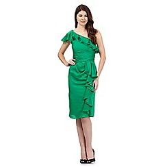 Debut - Green asymmetric frilled dress
